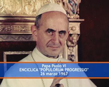 Resultado de imagem para papa montini populorum progressio